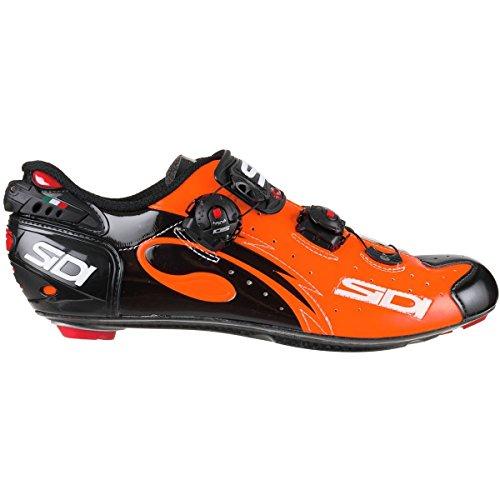 ラップ小切手一人で(シディ) Sidi Wire Push Cycling Shoe メンズ ロードバイクシューズOrange Black [並行輸入品]