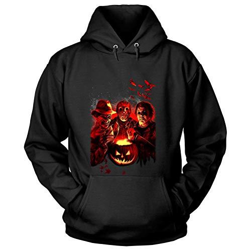 LEXIGSTORE Friday The 13Th Jason Voorhees Freddy Krueger T Shirt - Hoodie (S, Black) ()