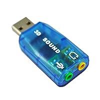 TOOGOO External USB 2.0 5.1 CH 3D Sound Card Audio Adapter