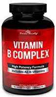 Super B Complex Vitamins - All B Vitamins Including B12, B1, B2, B3, B5, B6, B7, B9, Folic Acid - Vitamin B Complex Supplement for Stress, Energy and Healthy Immune System - 90 Vegetarian Capsules from Divine Bounty
