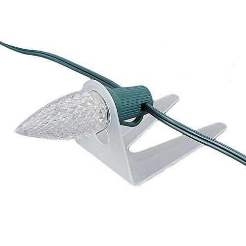 Novelty Lights 39001 Shingle Tab Christmas Light Clip, C7/C9 Base, PVC Plastic, 50 Pack