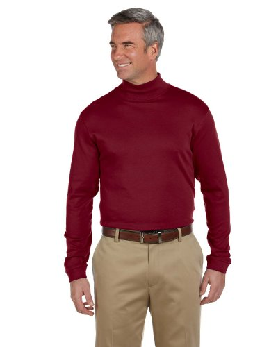 Chestnut Hill Long Sleeve Pima Cotton Mock Neck Turtleneck Shirt CH230 red XXXX-Large