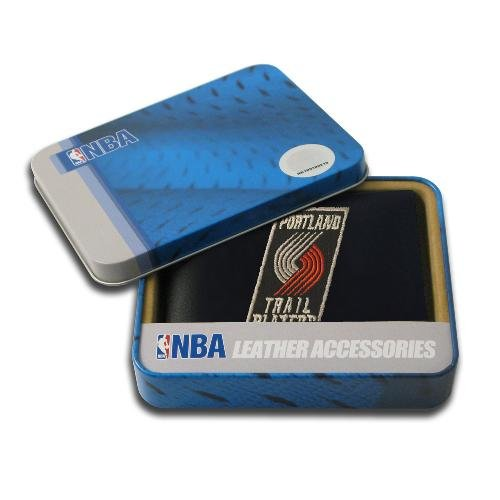 - NBA Portland Trail Blazers Embroidered Leather Billfold Wallet