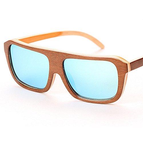 lunettes Wayfarer bambou unisexe lunettes lunettes polarisées en carré lunettes UV de à conduite de hommes la Nouvelles protection Classique pl de de soleil Cadre pour femmes soleil soleil main soleil vYHwntBqt