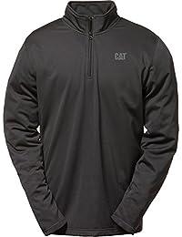 Mens Mens Flex Layer Quarter Zipped Long Sleeved Top Black