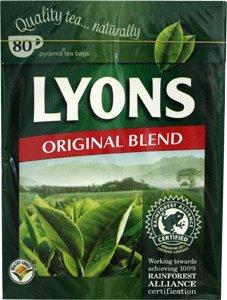 (Lyons Original Irish Tea. 80 Bags)