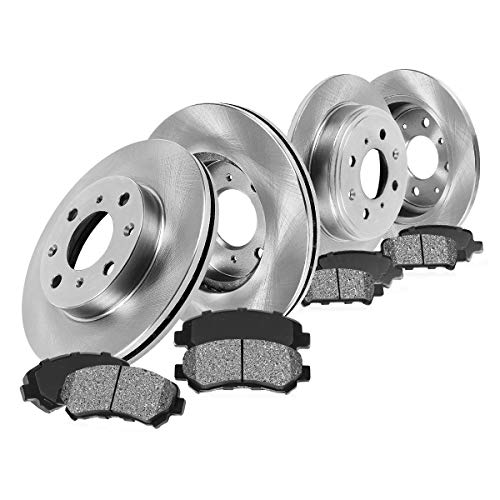 CK011363 FRONT 300 mm + REAR 280 mm 4 Lug Premium Grade OE [4] Brake Rotors + [8] Metallic Brake Pads Kit