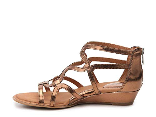 (B.O.C. Womens Pawel Open Toe Casual Strappy Sandals, Bronze, Size 7.0)