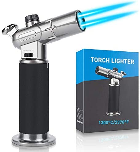 Kitchen Blow Torch Lighter Culinary Cooking Torch with Safety Lock Adjustable