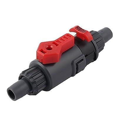 eDealMax Manguera de la válvula de Control de flujo de agua del acuario Montaje de conector