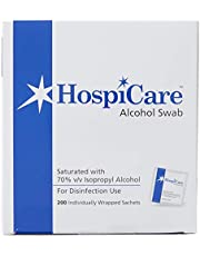 HospiCare Alcohol Swab, 200 sachets , 2400 count (Pack of 12)