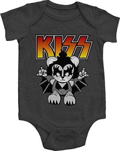 Rock and Roll recién nacido infantil Creepers Pelele muchas opciones para elegir (12 meses, Kiss Pequeño demonio) Color: Beso pequeño demonio Tamaño: 12 ...