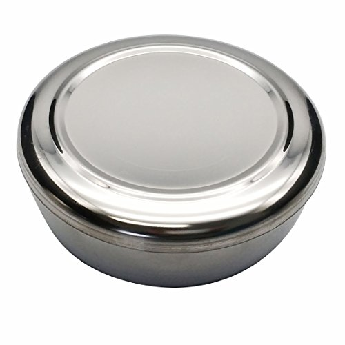 Korean Traditional Style Stainless Steel Rice Bowl with Lid Set of 5 by GARASANI (Image #1)