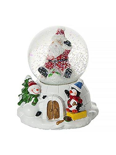 Palle di neve Decorazione musicale di Natale con Babbo Natale, un pinguino e un pupazzo di neve Mousehouse Gifts