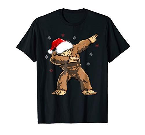 Dabbind Bigfoot Santa Shirt Christmas Yeti Dab Sasquatch ()