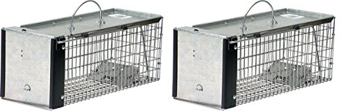 Havahart 0745 One-Door Animal Trap for Chipmunk, Squirrel, Rat, and Weasel, X-Small (Pack of 2) ()