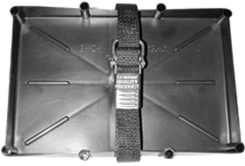 T-H Marine NBH-27-SSC-DP Battery Holder Tray with Stainless Steel Buckle, 27 Series ()