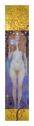 "Global Gallery DP-373365-22 ""Gustav Klimt Nuda Veritas 1899"" Unframed Giclee on Paper Print, 22"" x 4 5/8"""
