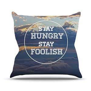 Kess internos de Skye Zambrana Stay Hungry interior/al aire libre manta almohada