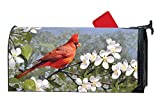 MailWraps Studio M Cardinal in Blossoms Decorative Spring Summer Birds, The Original Magnetic Mailbox Cover, Made in USA, Superior Weather Durability, Standard Size fits 6.5W x 19L Inch Mailbox