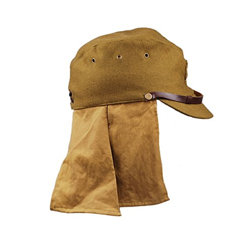 c5a85ca5a97 Amazon.com  Heerpoint Reproduction Ww2 Japanese Army Soldier Wool Cap Hat  with Neck Flap L  Clothing