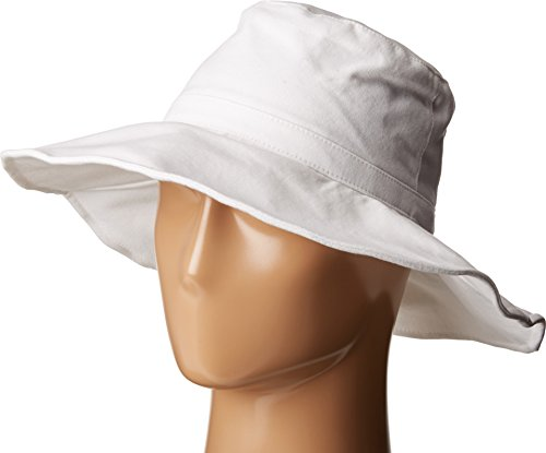 Hat Attack Cotton Hat (Hat Attack Women's Canvas Sunhat with Adjustable Sizing and Wire in Brim White)