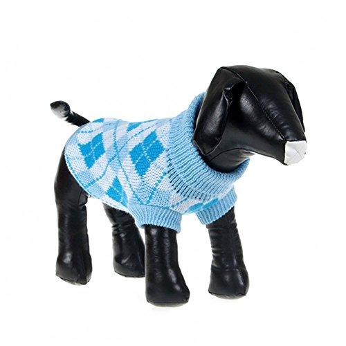 Weixinbuy Puppy Pet Dog Cat Jumper Sweater Knitwear Coat Light Blue XX-Small