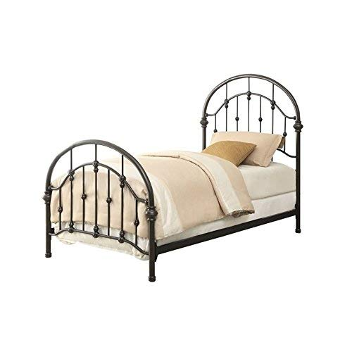 Coaster Home Furnishings Maywood Metal Curved Twin Bed Dark Bronze