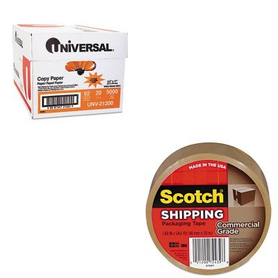 KITMMM3750TUNV21200 - Value Kit - Scotch 3750260TN Tan Premium Tape (MMM3750T) and Universal Copy Paper (UNV21200)