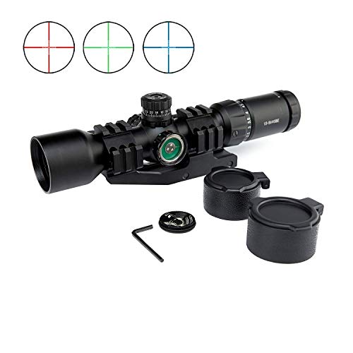 LIGHTELF Hunting Sight Holographic Mount Airsoft Tactical Rifle Scope 1.5-5X40 Tri-Illuminated Recticle & PEPR Cantilever Chasse Caza