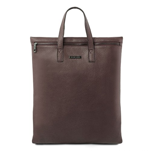 Di Marrone Colore Tuscany nero Leather Morbida Tl Scuro Verticale Borsa Pelle Tl141680 In pqPvwz