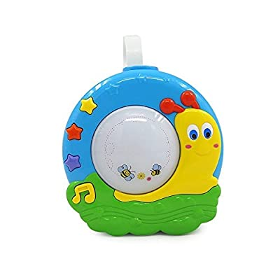 Baby Night Light Dancing Projector with Music, Nursery Lamp with 16 Relaxing Musical Sounds, Portable Sound Machine for Crib with Self Timer, Soothing Sleep Aid with Nature Sounds and Lullabies