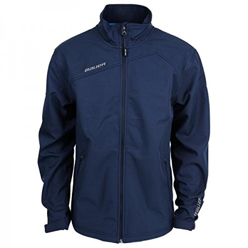 Bauer Soft Shell - Bauer Team Softshell Jacket (Navy, Youth XS)