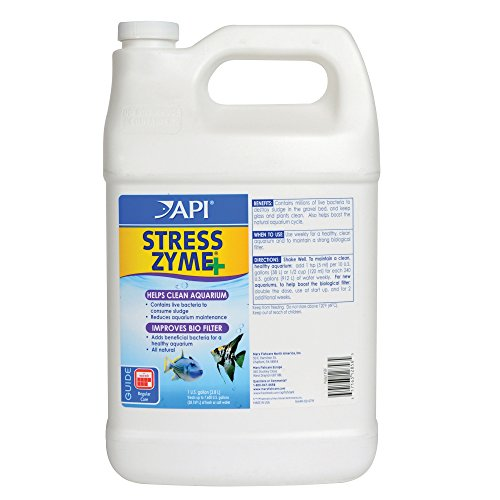 API Stress Zyme Freshwater and Saltwater Aquarium Cleaning Solution 1-Gallon Bottle