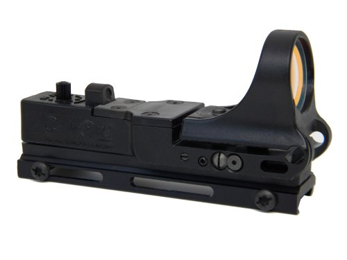 Black Standard Switch - C-MORE Systems Tactical Railway Red Dot Sight with Standard Switch, Black, 8 MOA