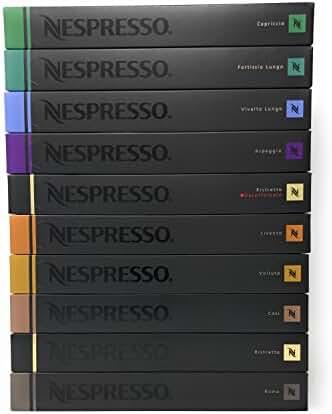 Nespresso OriginalLine Capsules Variety, 100 Count