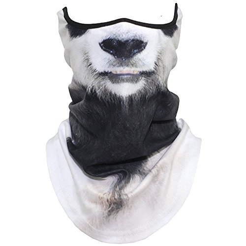 AXBXCX Animal 3D Prints Neck Gaiter Warmer Half Face Mask Scarf Windproof Dust UV Sun Protection for Skiing Snowboarding Snowmobile Halloween Cosplay Panda