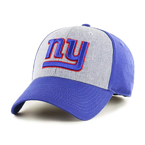 New Logo York Visor Giants - OTS NFL New York Giants Male Essential All-Star Adjustable Hat, Royal, One Size