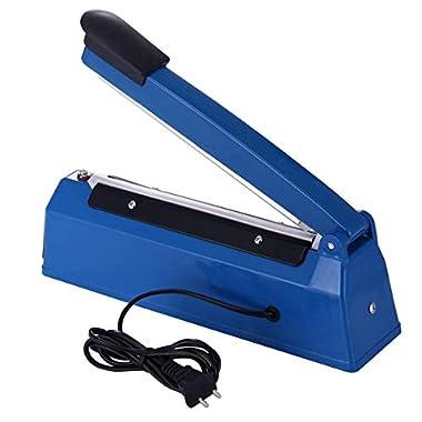 OSFT 8 inch Package Sealing Machine Plastic Vacuum Tool Heat Hand Sealer (8 Inch, Blue) 12