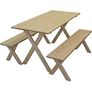 Kunkle Holdings LLC 5-foot Pine Classic Picnic Table Set