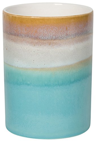 6 Inch Utensil Holder - Now Designs Reactive Glaze Utensil Crock, Horizon