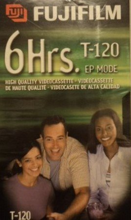 Fujifilm VHS Videocassette 6 Hrs. T-120 EP Mode (2 Pack) by Fujifilm