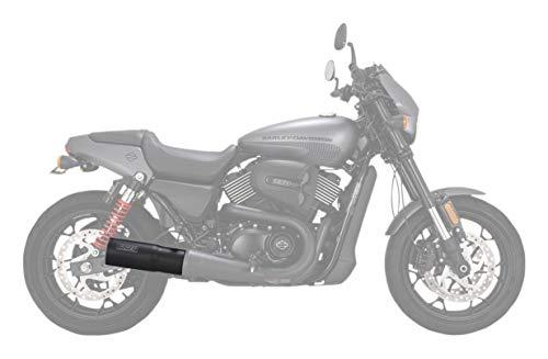 Vance & Hines Hi-Output Slip-On Exhaust (Black) for 14-19 Harley STREET500