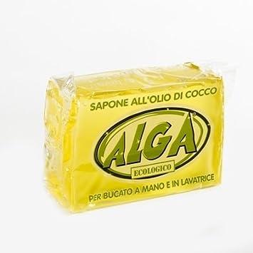 Jabón detergente puro a base de aceite de coco 100% ecológico, biodegradable, vegano y natural para lavar a mano y en la lavadora.