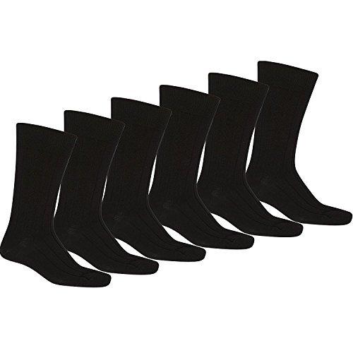Knocker Mens Plain Dress Socks Assorted Size 09-1112 Pair Black (1dz)