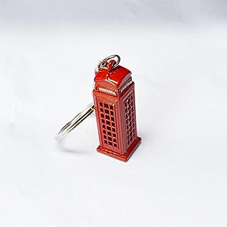 Primi rojo llavero de metal creativo llamada de Londres ...