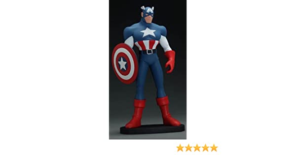 Hard Hero X-Men Evolution Captain America Maquette (Ultra Rare Product Sample!)