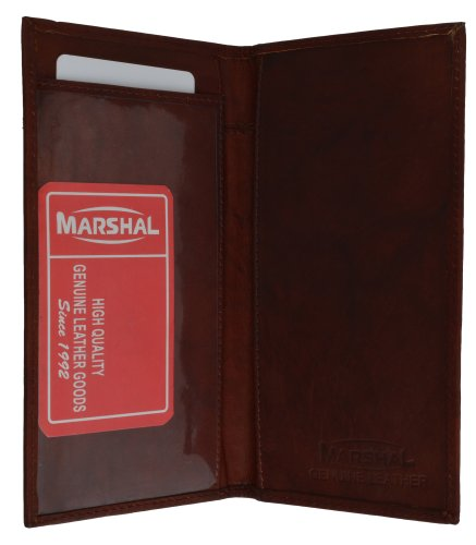 Brand New Hand Crafted Genuine Soft Leather Checkbook Cover simple-156 (Burgundy)