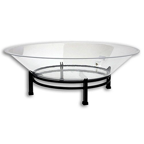 Buffet Enhancements 32 Inch Round Iron Ice Display with Acrylic Tray, Black