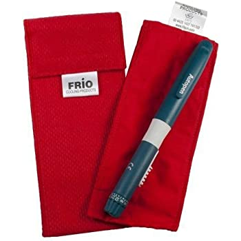 Frio Insulin Cooling Case, Reusable Evaporative Medication Cooler - Individual Wallet, Red